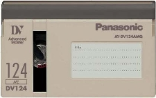 PANASONIC AY-DV124AMQ ADVANCED MASTER  QUALITY DV CASSETTE 5 ST